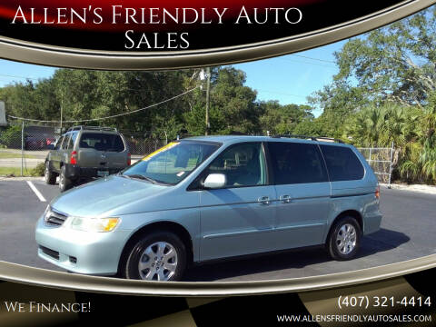 2003 Honda Odyssey for sale at Allen's Friendly Auto Sales in Sanford FL