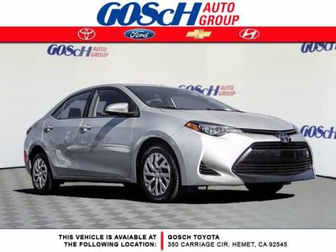 2019 Toyota Corolla for sale at BILLY D SELLS CARS! in Temecula CA