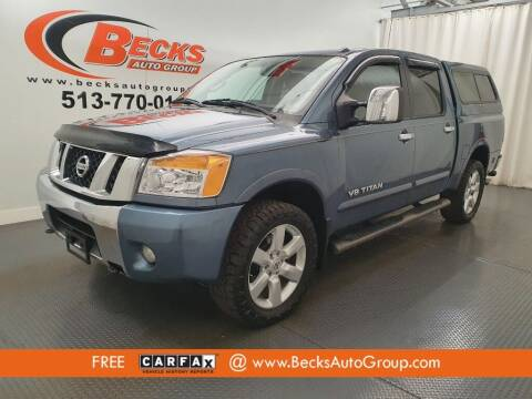 2012 Nissan Titan for sale at Becks Auto Group in Mason OH