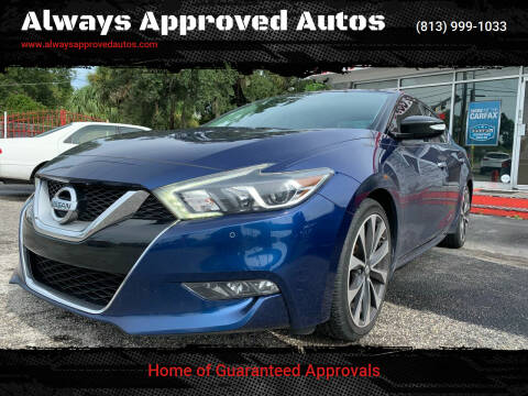 2016 Nissan Maxima for sale at Always Approved Autos in Tampa FL