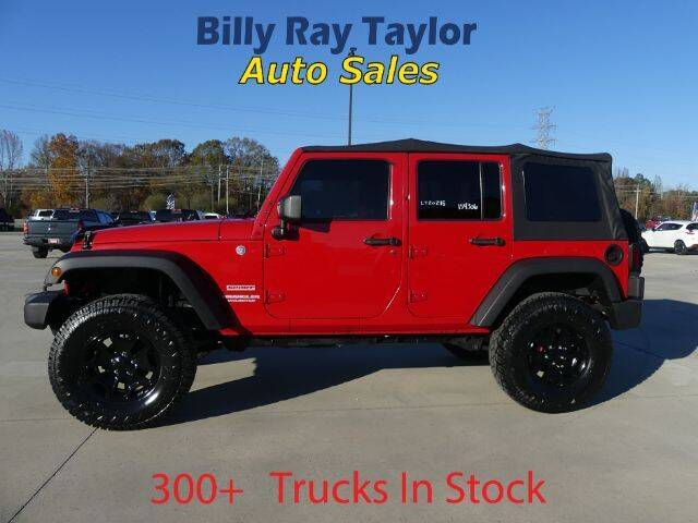 2012 Jeep Wrangler Unlimited for sale at Billy Ray Taylor Auto Sales in Cullman AL