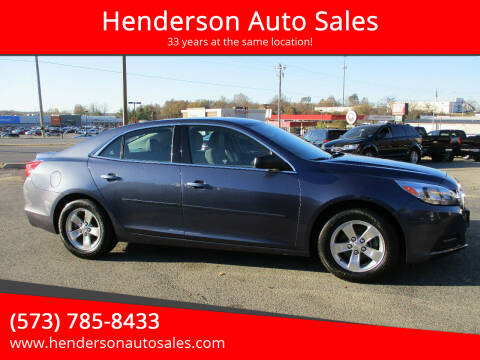 2015 Chevrolet Malibu for sale at Henderson Auto Sales in Poplar Bluff MO