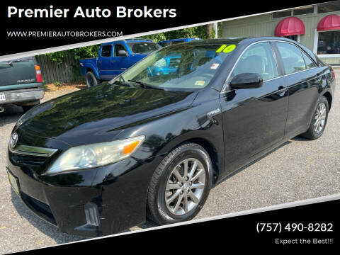 2010 Toyota Camry Hybrid for sale at Premier Auto Brokers in Virginia Beach VA