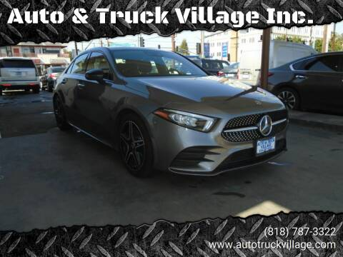 2019 Mercedes-Benz A-Class for sale at Auto & Truck Village Inc. in Van Nuys CA