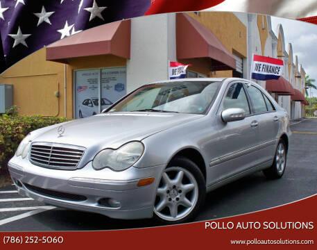 2003 Mercedes-Benz C-Class for sale at POLLO AUTO SOLUTIONS in Miami FL