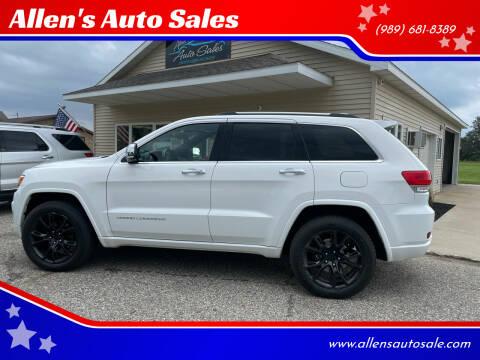 2015 Jeep Grand Cherokee for sale at Allen's Auto Sales in Saint Louis MI