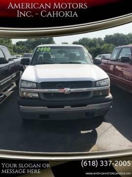 2004 Chevrolet Silverado 2500 for sale at American Motors Inc. - Cahokia in Cahokia IL