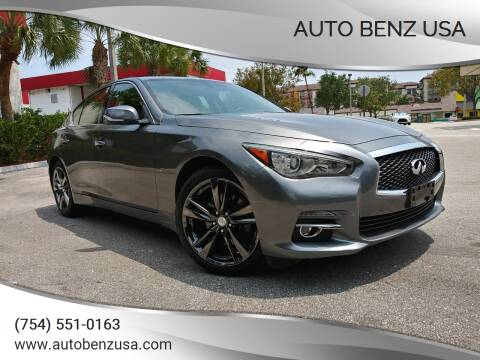 2015 Infiniti Q50 for sale at AUTO BENZ USA in Fort Lauderdale FL