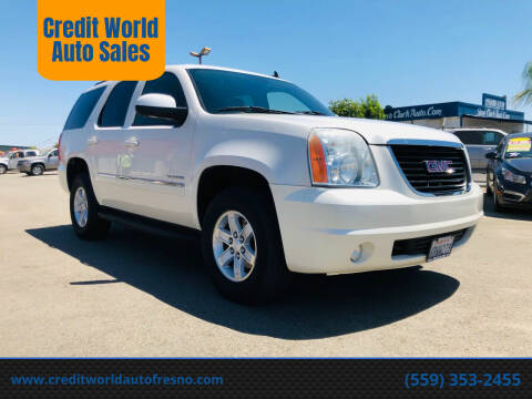 2011 GMC Yukon for sale at Credit World Auto Sales in Fresno CA