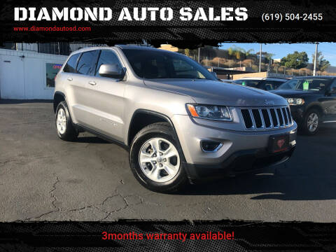 2015 Jeep Grand Cherokee for sale at DIAMOND AUTO SALES in El Cajon CA