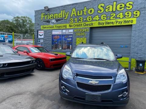 2013 Chevrolet Equinox for sale at Friendly Auto Sales in Detroit MI