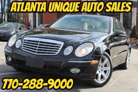 2007 Mercedes-Benz E-Class for sale at Atlanta Unique Auto Sales in Norcross GA