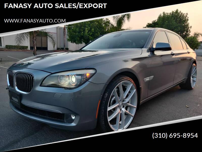 2009 BMW 7 Series for sale at FANASY AUTO SALES/EXPORT in Yorba Linda CA