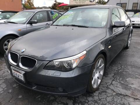 2005 BMW 5 Series for sale at Joe's Automobile in Vallejo CA