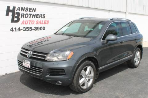 2012 Volkswagen Touareg for sale at HANSEN BROTHERS AUTO SALES in Milwaukee WI