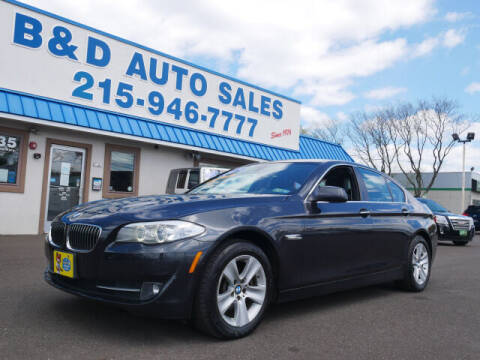 2013 BMW 5 Series for sale at B & D Auto Sales Inc. in Fairless Hills PA