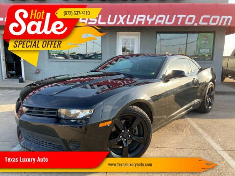 2015 Chevrolet Camaro for sale at Texas Luxury Auto in Cedar Hill TX
