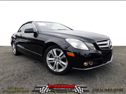 2011 Mercedes-Benz E-Class for sale at PRIME MOTORS LLC in Arlington VA