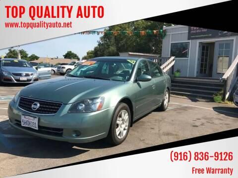 2006 Nissan Altima for sale at TOP QUALITY AUTO in Rancho Cordova CA