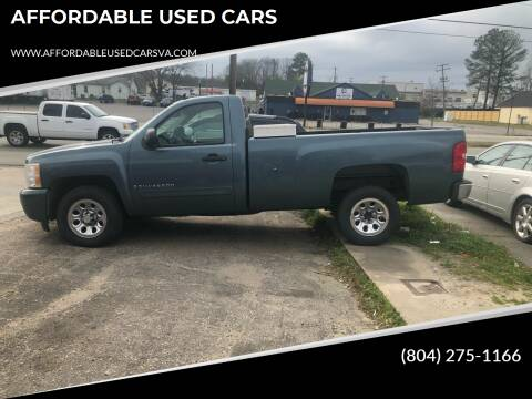 2007 Chevrolet Silverado 1500 for sale at AFFORDABLE USED CARS in Richmond VA