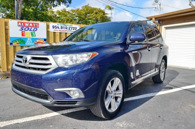 2012 Toyota Highlander for sale at ALWAYSSOLD123 INC in Fort Lauderdale FL