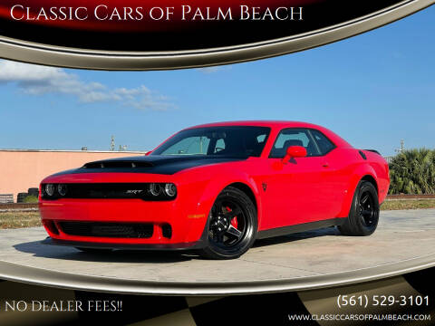 2018 Dodge Challenger for sale at Classic Cars of Palm Beach in Jupiter FL