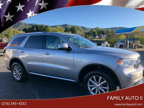 2017 Dodge Durango for sale at FAMILY AUTO II in Pounding Mill VA