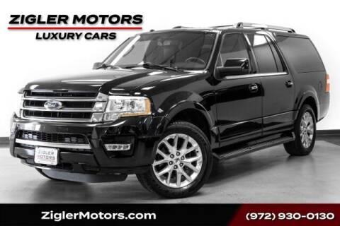 2017 Ford Expedition EL for sale at Zigler Motors in Addison TX