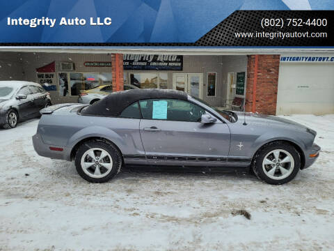 2007 Ford Mustang for sale at Integrity Auto LLC - Integrity Auto 2.0 in St. Albans VT