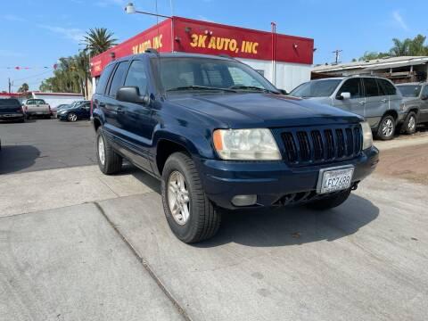 1999 Jeep Grand Cherokee for sale at 3K Auto in Escondido CA
