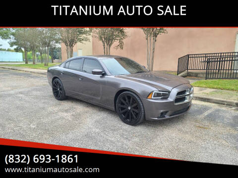 2014 Dodge Charger for sale at TITANIUM AUTO SALE in Houston TX