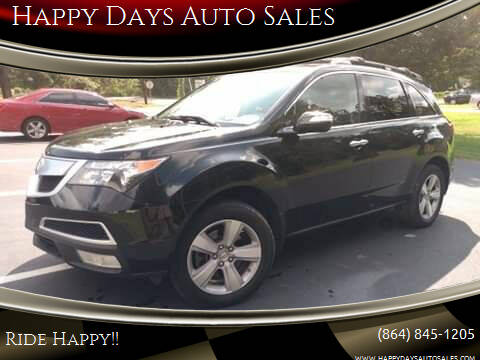 2012 Acura MDX for sale at Happy Days Auto Sales in Piedmont SC
