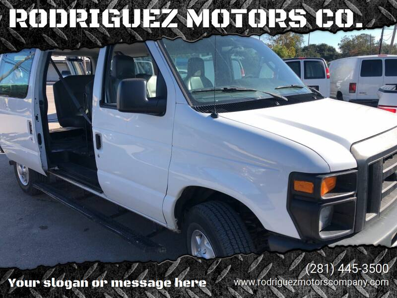 2010 Ford E-Series Wagon for sale at RODRIGUEZ MOTORS CO. in Houston TX