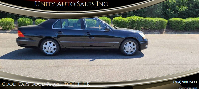 2003 Lexus LS 430 for sale at Unity Auto Sales Inc in Charlotte NC