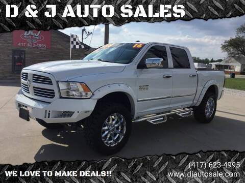 2016 RAM Ram Pickup 1500 for sale at D & J AUTO SALES in Joplin MO