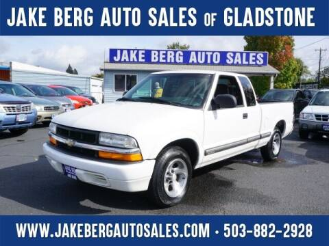 2001 Chevrolet S-10 for sale at Jake Berg Auto Sales in Gladstone OR