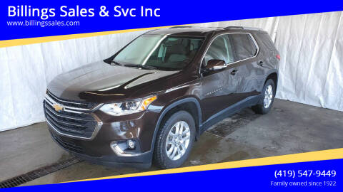 2018 Chevrolet Traverse for sale at Billings Sales & Svc Inc in Clyde OH