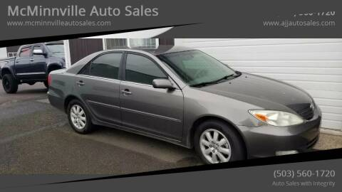 2004 Toyota Camry for sale at McMinnville Auto Sales LLC in Mcminnville OR