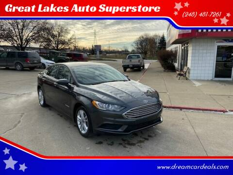 2018 Ford Fusion Hybrid for sale at Great Lakes Auto Superstore in Pontiac MI