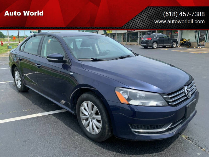 2014 Volkswagen Passat for sale at Auto World in Carbondale IL