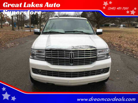2012 Lincoln Navigator for sale at Great Lakes Auto Superstore in Pontiac MI