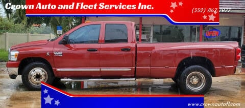 2007 Dodge Ram Pickup 3500 for sale at Crown Auto and Fleet Services Inc. in Ocala FL