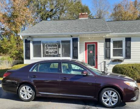 2012 Toyota Avalon for sale at SIGNATURES AUTOMOTIVE GROUP LLC in Spartanburg SC