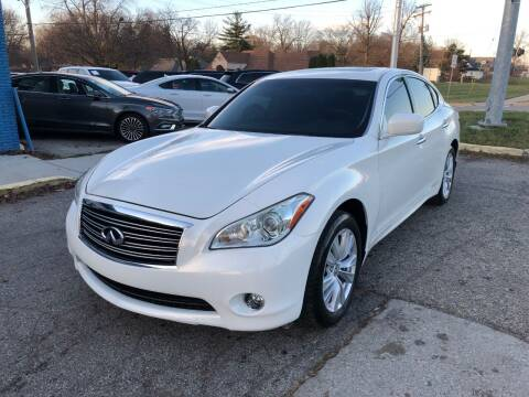 2012 Infiniti M37 for sale at One Price Auto in Mount Clemens MI