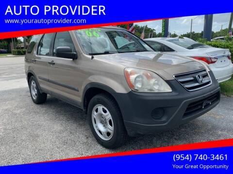 2006 Honda CR-V for sale at AUTO PROVIDER in Fort Lauderdale FL