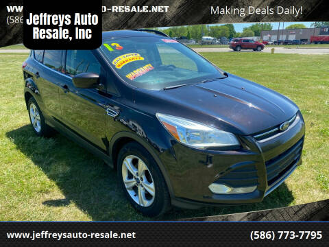2013 Ford Escape for sale at Jeffreys Auto Resale, Inc in Clinton Township MI