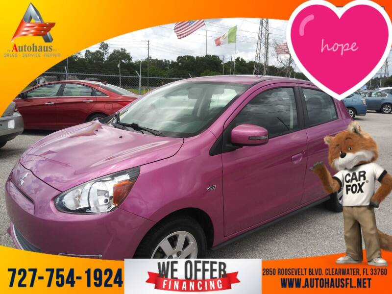 2015 Mitsubishi Mirage for sale at Das Autohaus Quality Used Cars in Clearwater FL