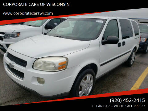 2006 Chevrolet Uplander for sale at CORPORATE CARS OF WISCONSIN in Sheboygan WI