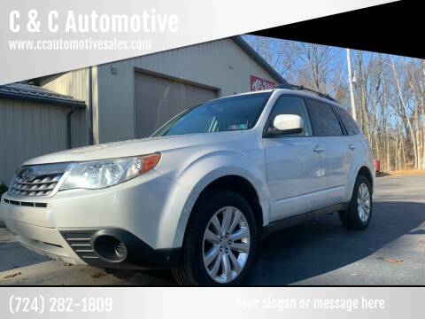 2012 Subaru Forester for sale at C & C Automotive in Chicora PA