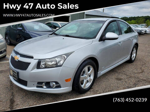 2012 Chevrolet Cruze for sale at Hwy 47 Auto Sales in Saint Francis MN